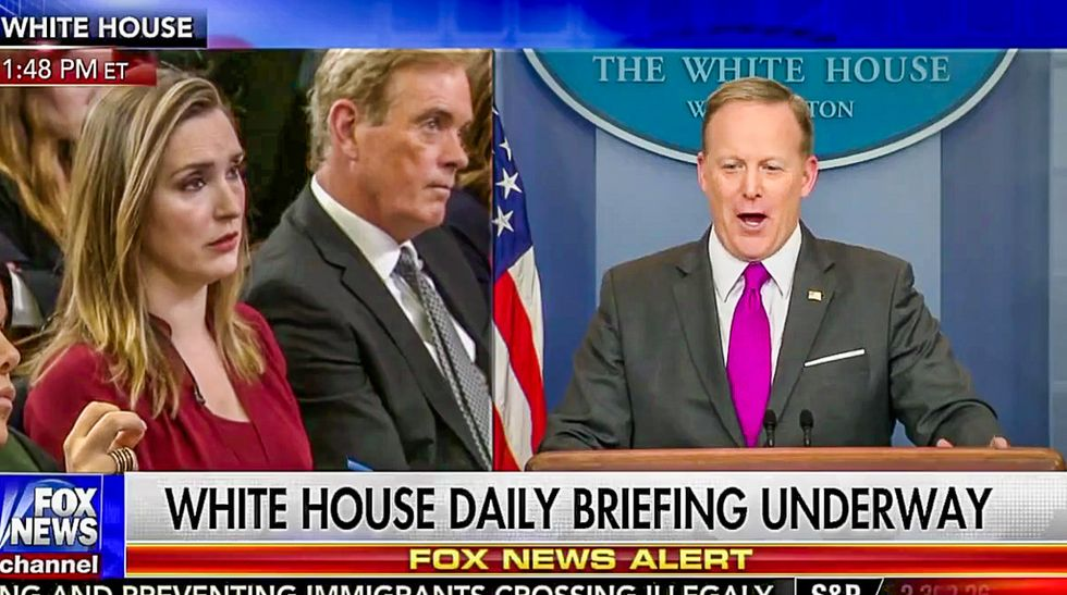Sean Spicer tries to walk back wiretap claims by comically repeating 'I'm not aware' 10 times