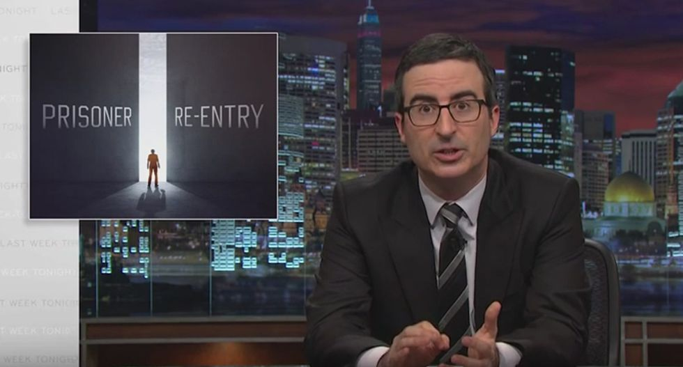 John Oliver blasts our $80 billion prison and parole system that is setting ex-cons 'up to fail'
