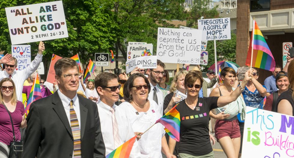 Mormons plan mass resignations over 'kick in the stomach' decision to label gay members 'apostates'