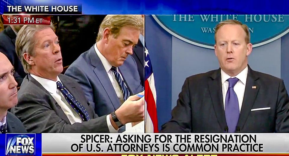 Sean Spicer denies wiretapping means wiretapping: 'The president said very clearly wiretapping in quotes'