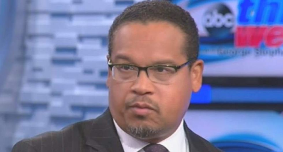 Minneapolis cop caught pointing weapon at Rep. Keith Ellison's unarmed son