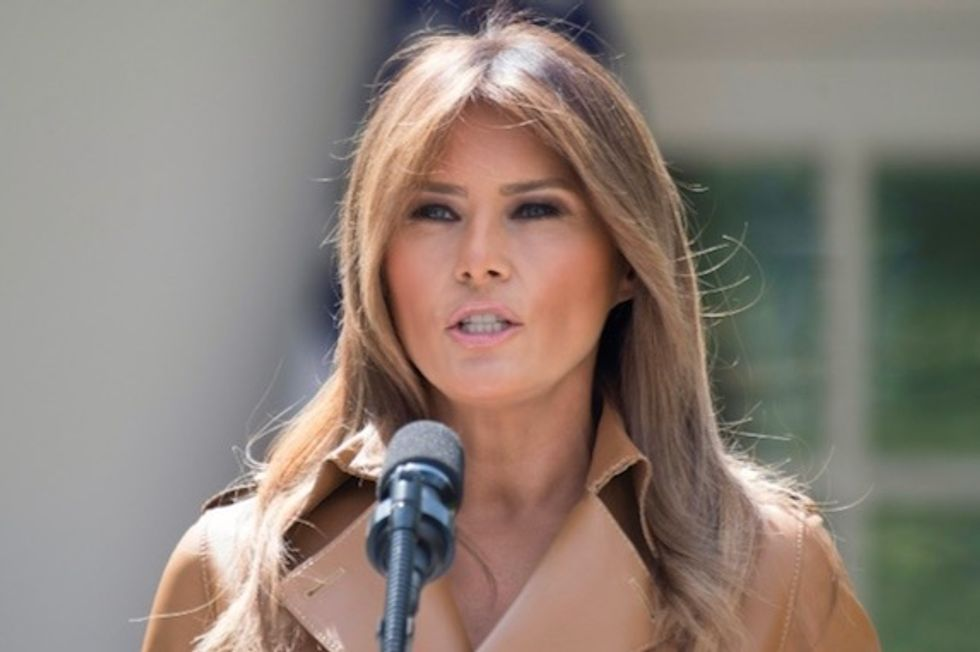 Melania Trump in the limelight -- briefly