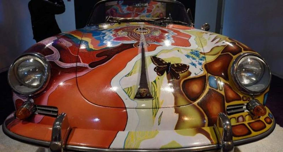 Janis Joplin's psychedelic Porsche sells for record $1.8 million in frantic auction