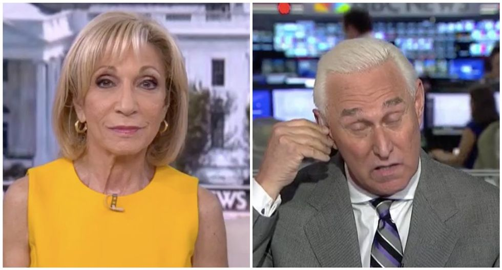 WATCH: Roger Stone falls apart under questioning by MSNBC's Andrea Mitchell