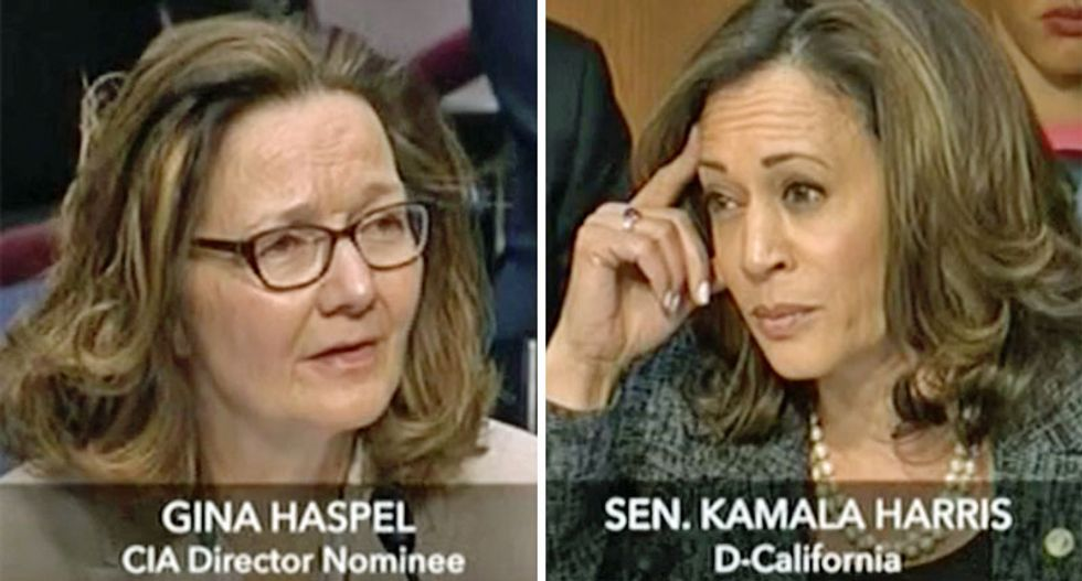 Trump's CIA pick won't say whether torture is immoral — but Kamala Harris refuses to let her wriggle off the hook