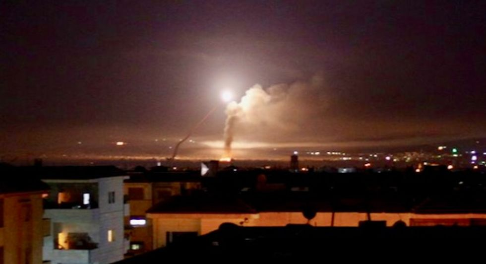 Israel says it attacked targets in Syria after Iranian rocket fire