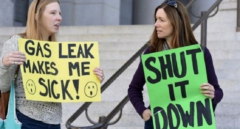 Los Angeles-area residents want gas company to stop massive methane leak