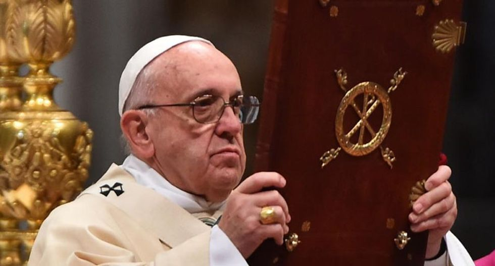 Pope denounces constant accusers as sex abuse survivors express anger