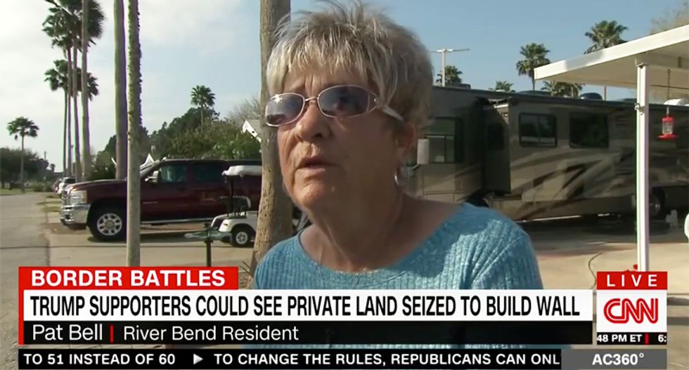 'If I have to get a lawyer, I will': Trump voter upset the border wall will put her house on Mexico side