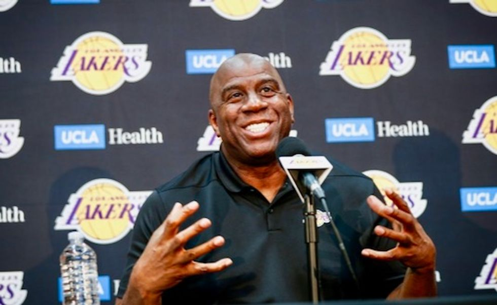 Magic Johnson steps down as Los Angeles Lakers chief