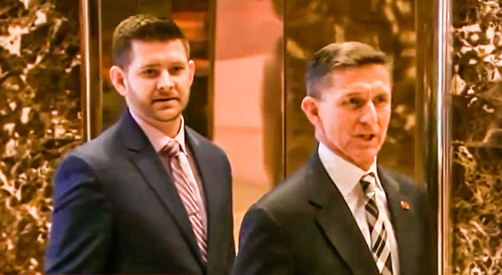 Mike Flynn's son complains Trump fired his dad before he could 'improve relations with Russia'