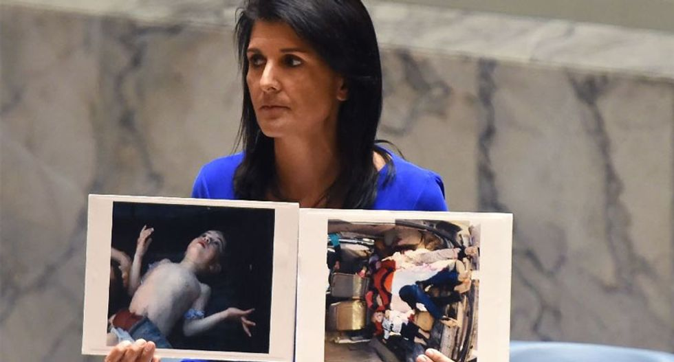 Russia and Syria hit back as pressure builds over deadly 'chemical attack'