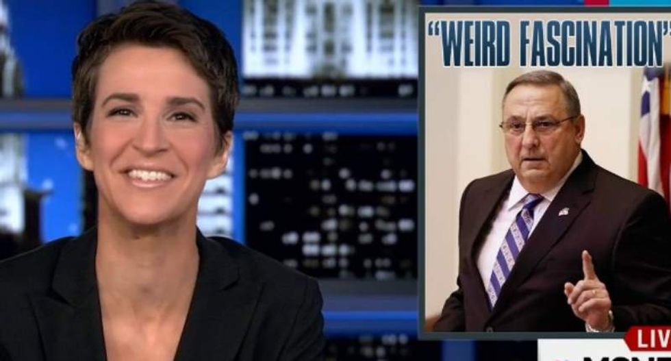 Rachel Maddow asks Maine's Tea Party governor just one question -- and he freaks out
