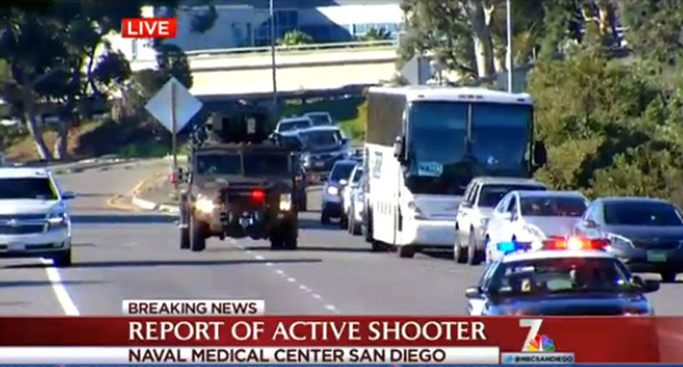 No evidence of shots fired at Naval Medical Center in San Diego