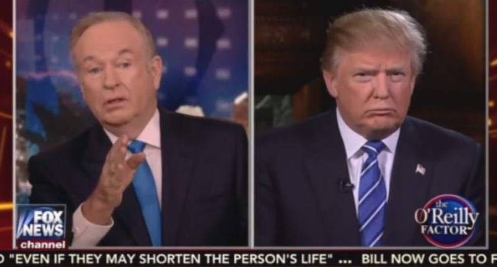 Bill O'Reilly tries -- and fails -- to get Donald Trump back into Fox Republican debate