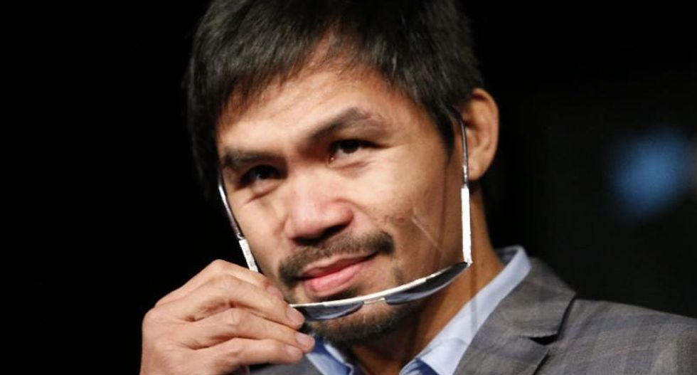 Manny Pacquiao doubles down on gay slurs: 'I am just stating the truth, what the Bible says'