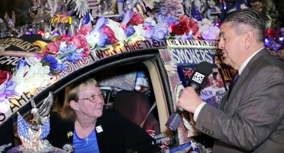 WATCH: Cruz-loving grandma blames Hillary after cops pull over her crazy 'award winning Liberty Van'