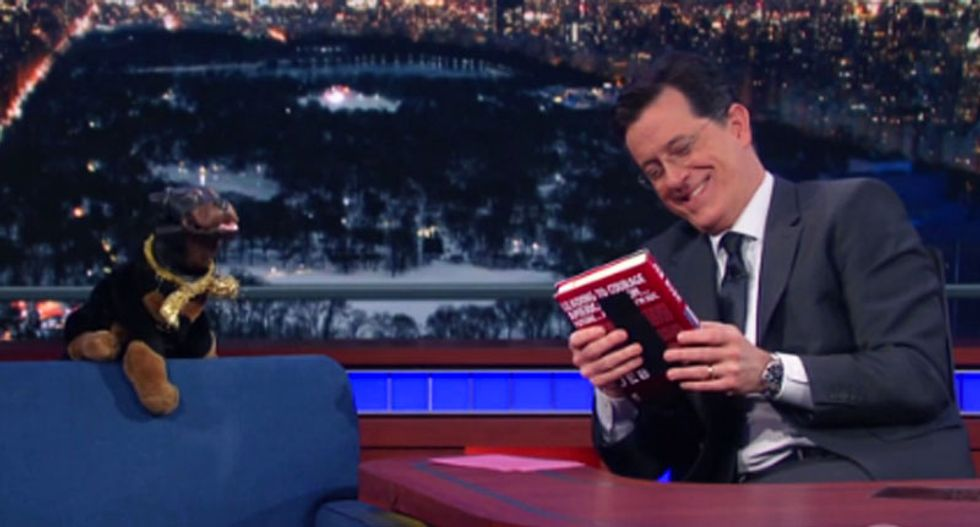 WATCH: Triumph the Insult Comic Dog visits Colbert and hilariously shreds the GOP candidates