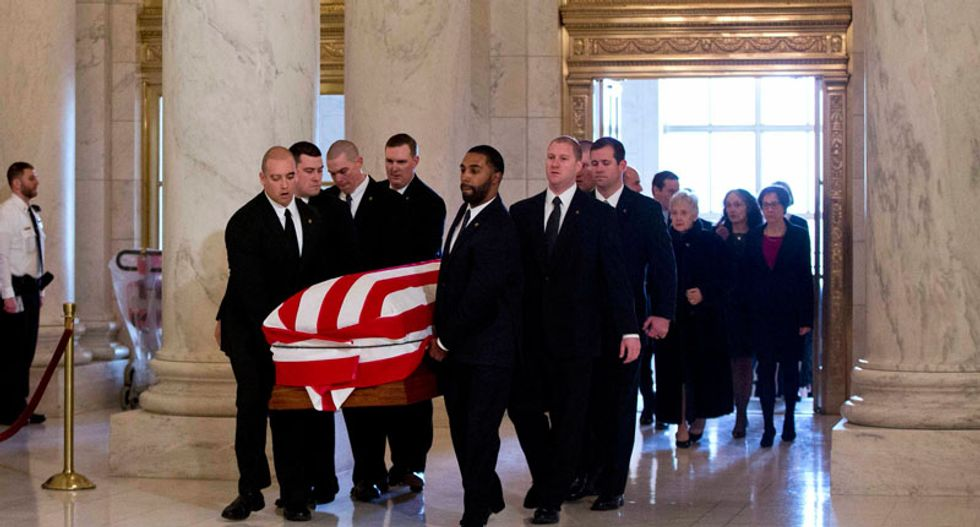 Supreme Court justices pay respects to Antonin Scalia