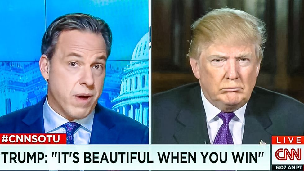 CNN's Jake Tapper calls BS on Trump's minority outreach: You are retweeting 'white supremacists'