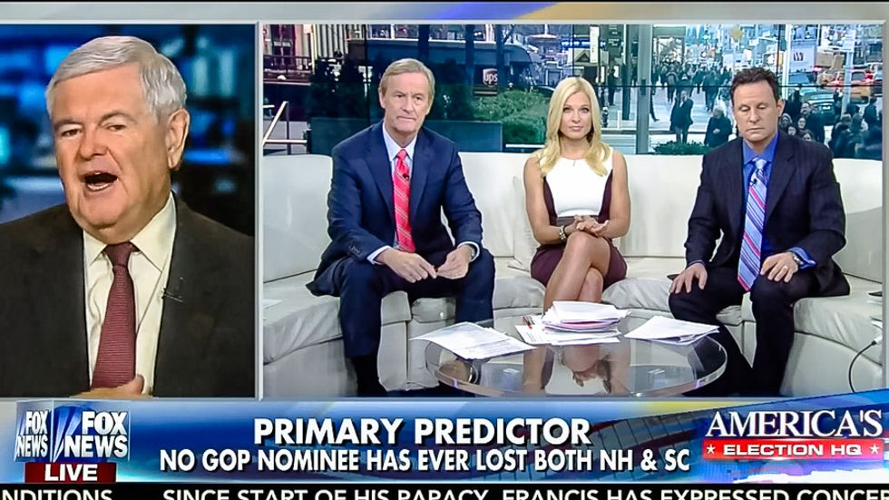 Newt Gingrich drops truth bomb on Fox News: 'Trump is the candidate Fox & Friends invented'