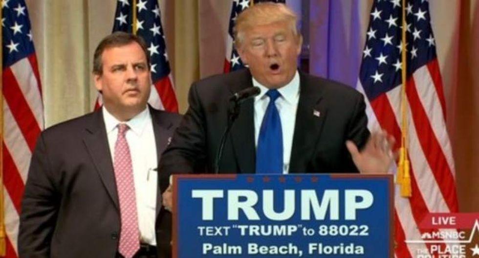 Trump trashes Christie, by mistake