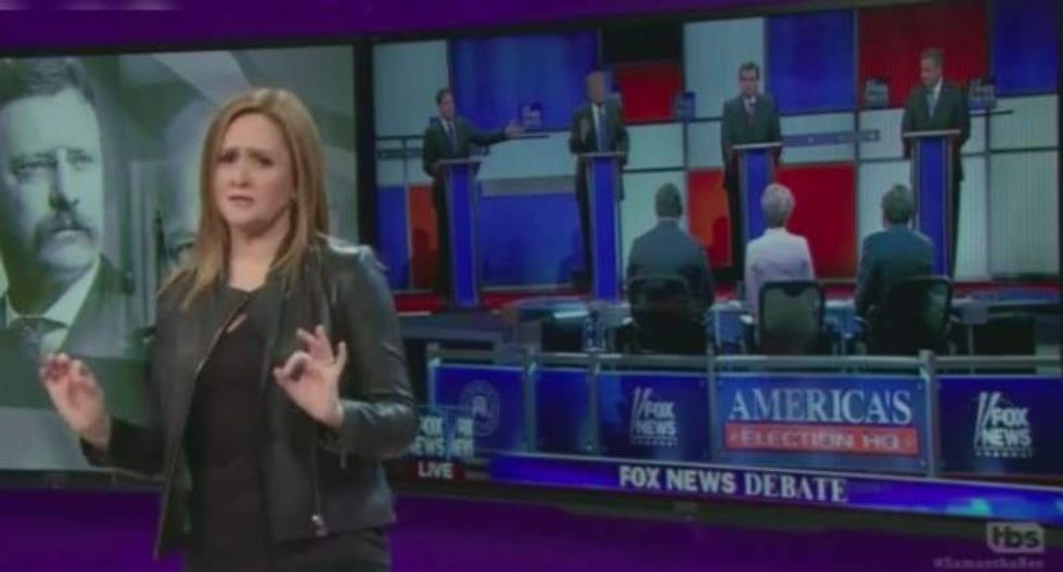 Samantha Bee mocks feuding GOP candidates: 'Men are just too emotional to be president'