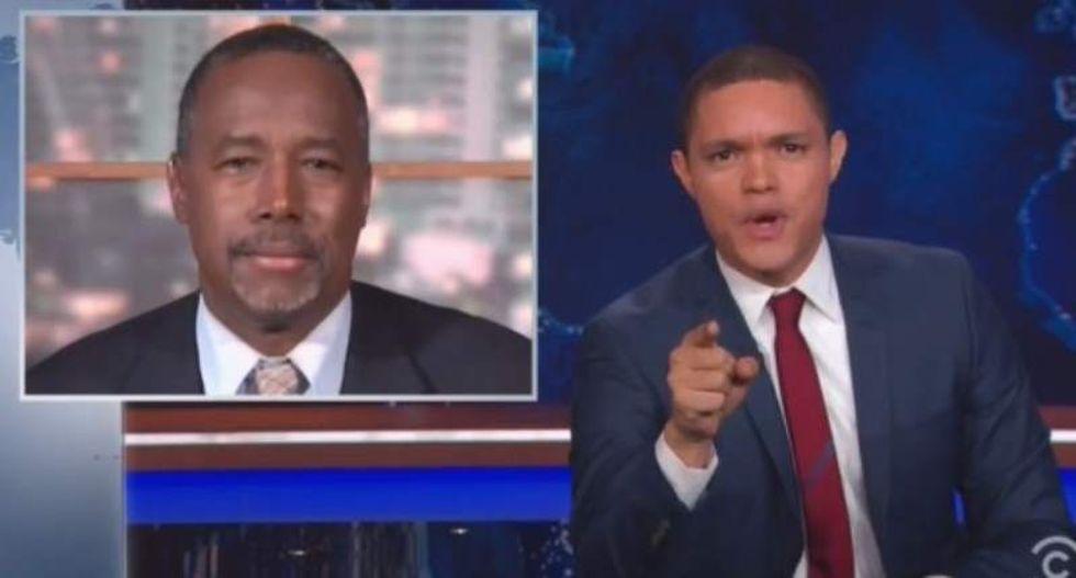 Trevor Noah destroys Carson's claim that media is treating him worse than Obama