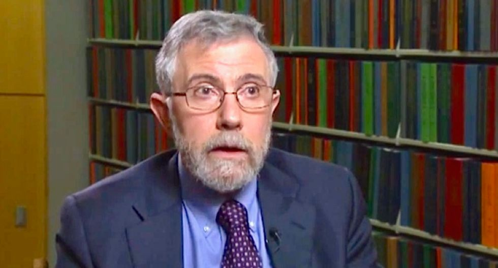 'Useful idiots': NYT's Krugman blasts shortsighted billionaires who tolerate Trump's racism for the tax cuts