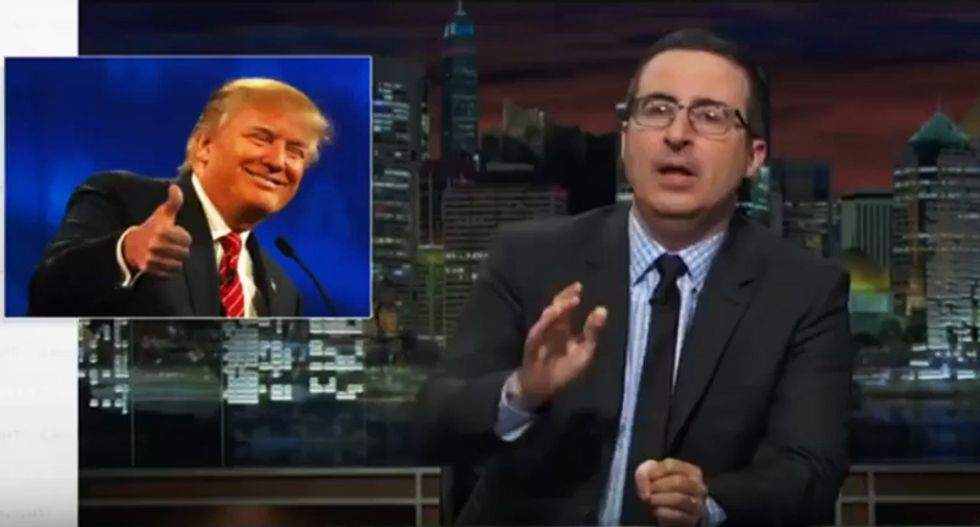 'I'm very concerned as a human being': John Oliver slams Trump's 'viscerally offensive' Muslim ban