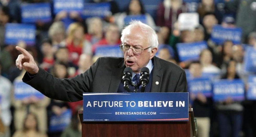 Bernie Sanders' rally in New York strikes at heart of establishment
