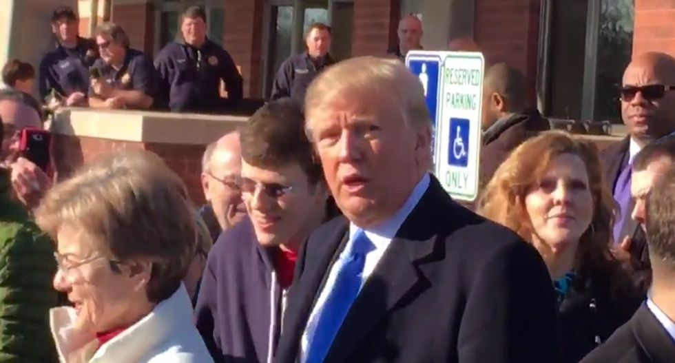 Oops! Trump's supporter accidentally catches him violating Wisconsin election law