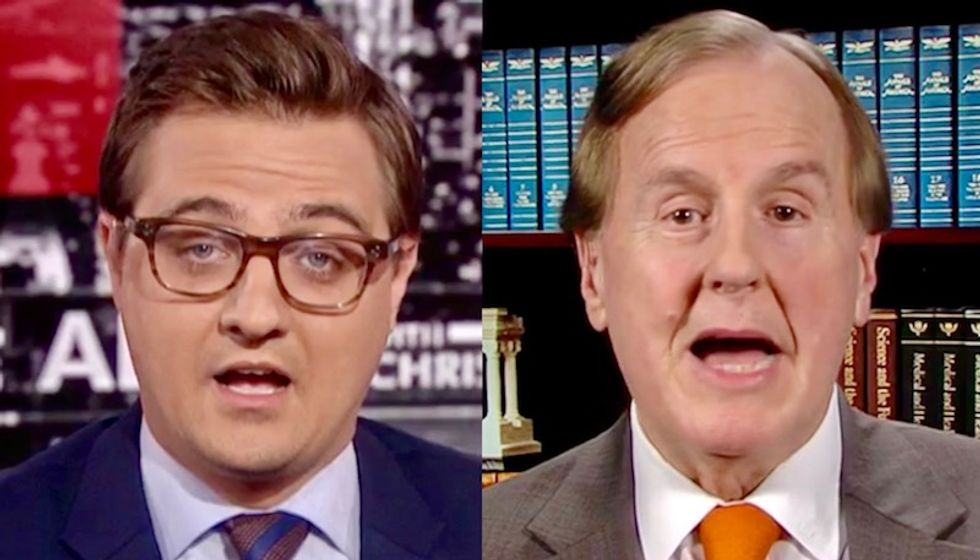 MSNBC's Chris Hayes shuts down manic shouting Republican insisting the US has 'open borders'