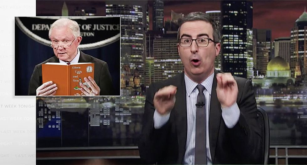John Oliver publishes Jeff Sessions' email and urges people to send their strange d*ckpics