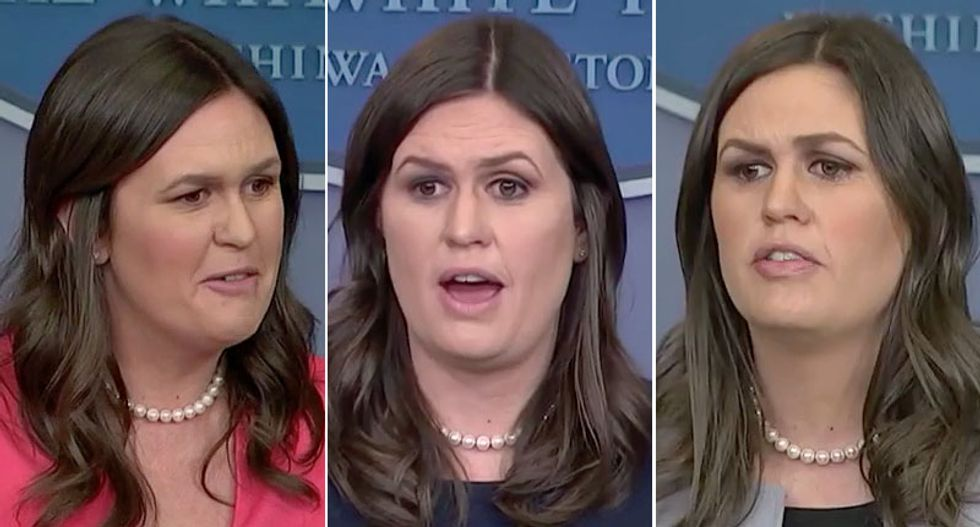 MSNBC rolls out clips from the briefing room to destroy Sarah Sanders' boast of always being respectful