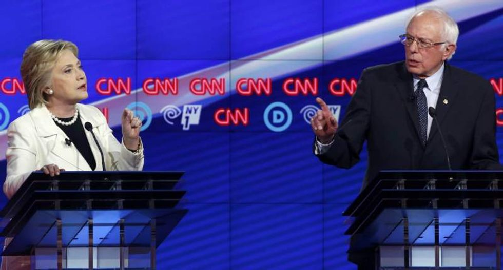 WATCH: Clinton and Sanders clash in contentious NYC Democratic candidate debate