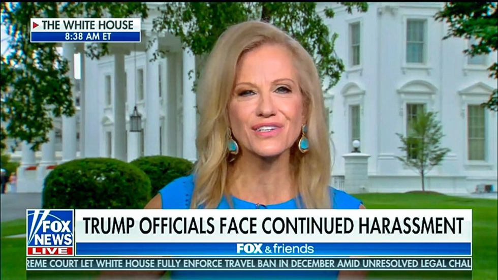 Kellyanne Conway demands civility -- but says Trump's violent rhetoric doesn't count: 'There is no moral equivalence'