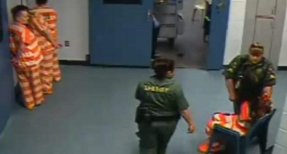 Florida jailer busted for slapping inmate after surveillance footage proves she lied