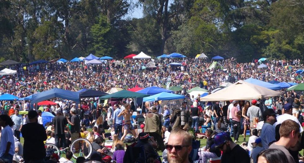 San Francisco celebrates 4/20 day with massive party as public health warnings go up in smoke