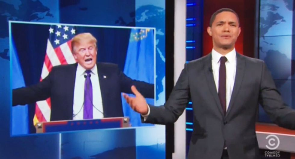 Trevor Noah mocks press calling Trump 'presidential' because he didn't insult anyone during NY speech