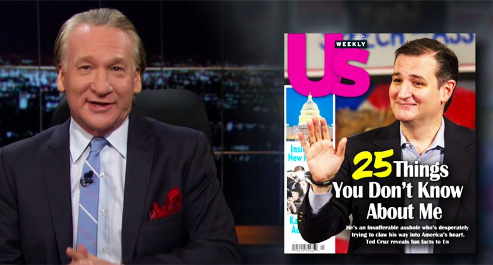 Watch Bill Maher's hilarious fun facts you need to know about Ted 'F*ckface' Cruz