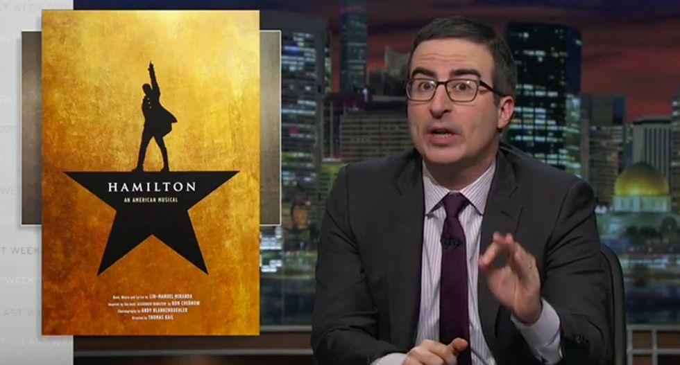 John Oliver lets 'Hamilton' creator Lin-Manuel Miranda rap on how hedge funds are f*cking over Puerto Rico