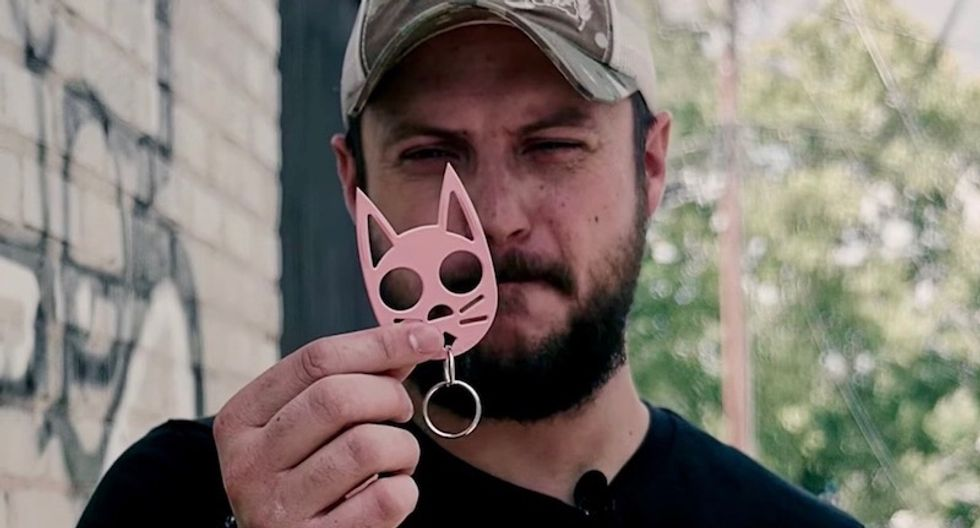 This pink plastic kitty keychain could get you a year in Texas jail -- even as AR-15s and ninja swords are legal