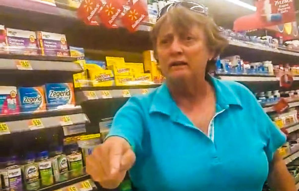 WATCH: Walmart shopper goes on crazed racist rant after Latina woman politely asks her to move cart