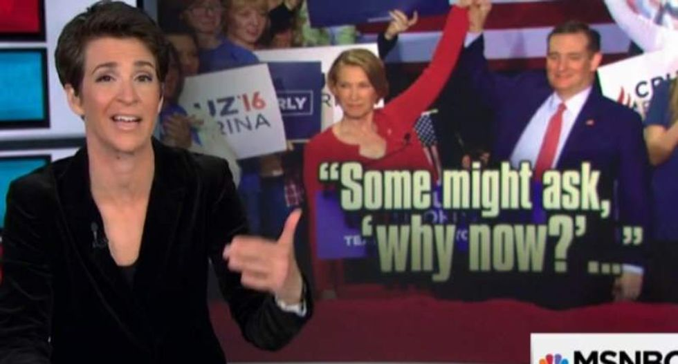 Maddow: Cruz 'grafting' Fiorina onto campaign is a Reagan idea -- that flopped