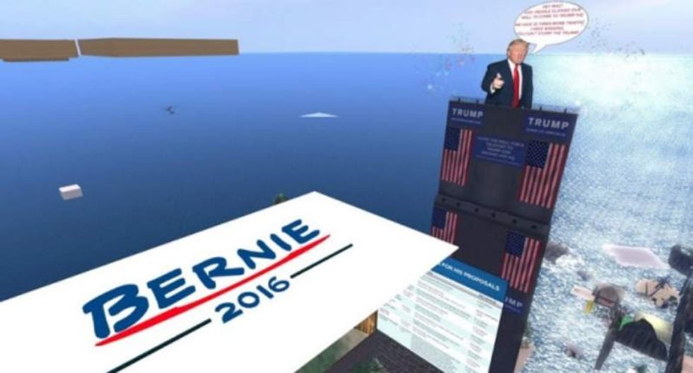 Trump fans harass Sanders supporters with swastikas in virtual-reality 'Second Life'