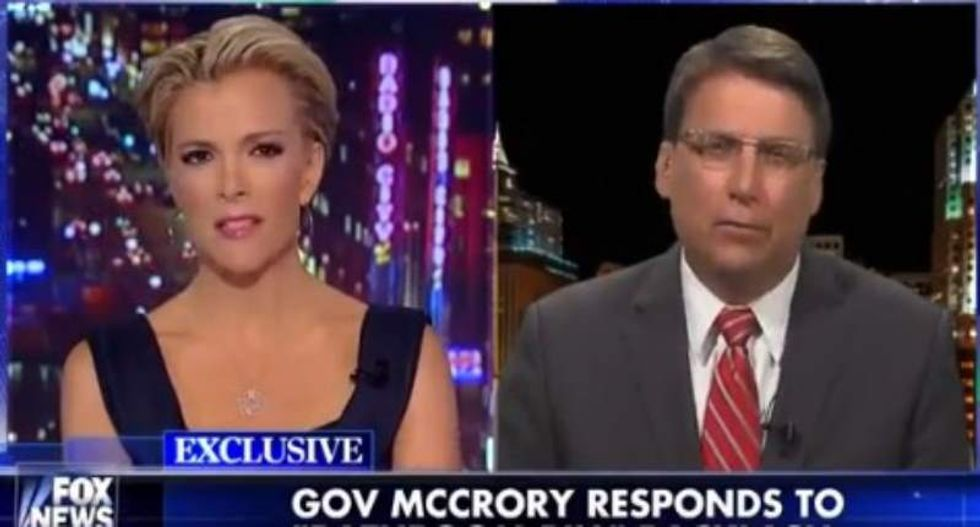 Megyn Kelly grills Pat McCrory over anti-trans North Carolina law: 'What is the fear?'