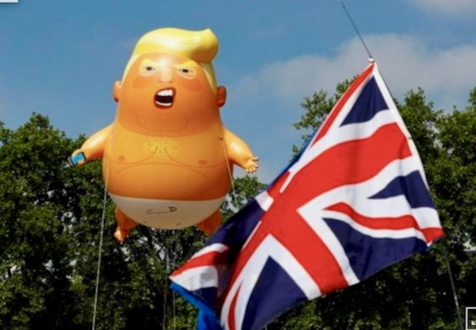 250,000 anti-Trump protesters expected in UK – but Fox News says many are actually pro-Trump