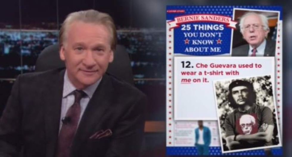 WATCH: Bill Maher reveals fun facts about Bernie Sanders and his 'resting kvetch face'