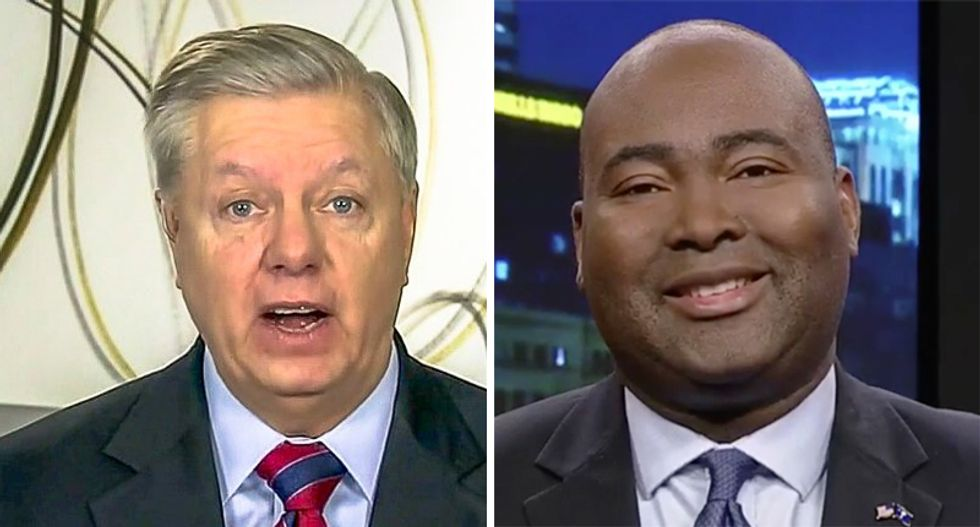 'Would be so wild if Harrison pulled this off!': Democratic challenger pulls ahead of Lindsey Graham